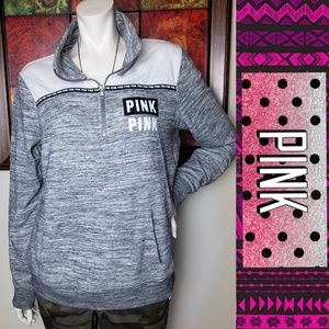 Victoria's Secret PINK Grey Malange Pullover Top